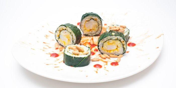 Sushi di cavolo nero